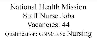Staff Nurse Jobs in National Health Mission
