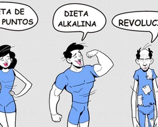 La nada saludable dieta de la revolución, según Bozzone