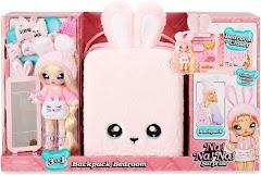 Спальня-рюкзак для кукол Na! Na! Na! Surprise 3-in-1 Backpack Bedroom с эксклюзивным нарядом и игрушкой