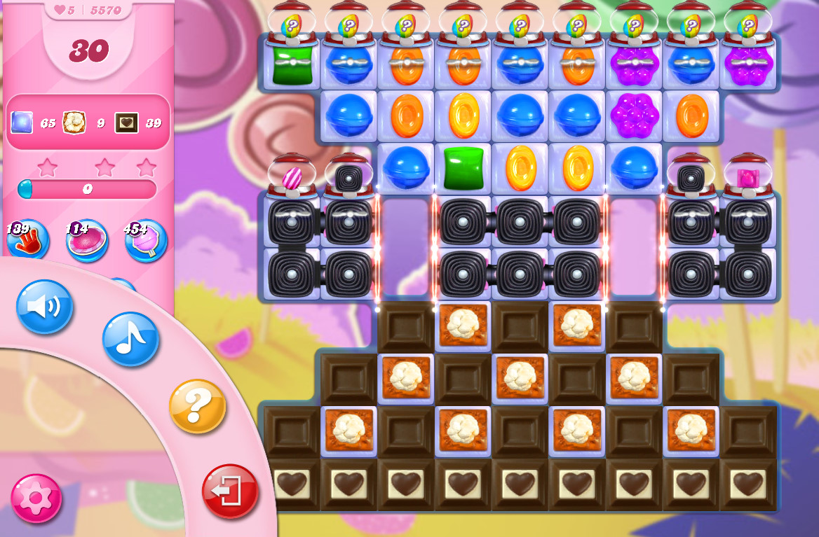 Candy Crush Saga level 5570