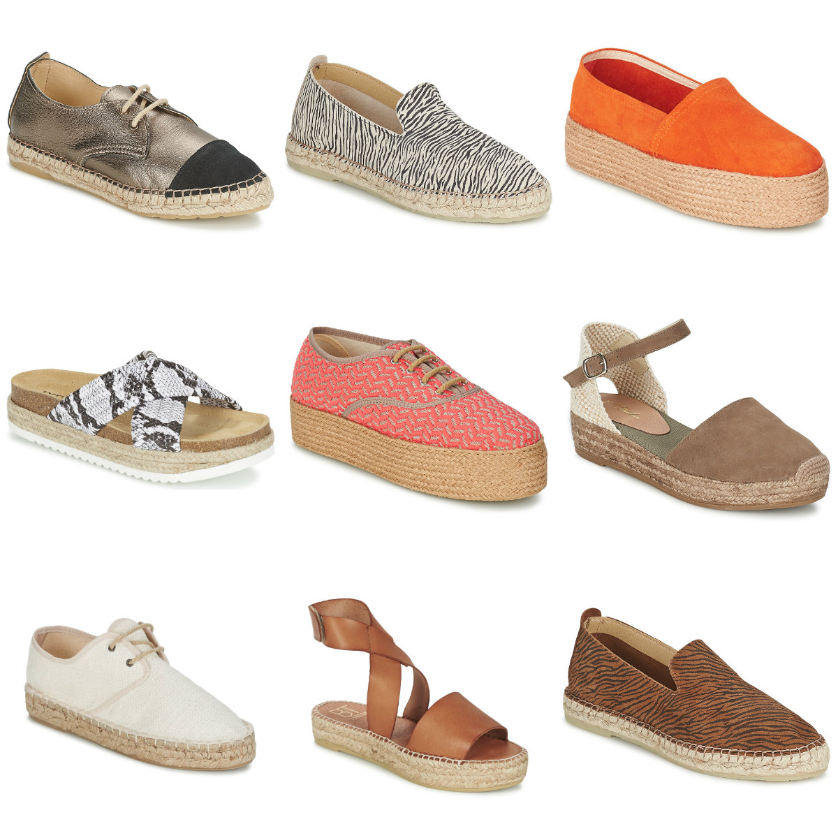 Espadrilles, Flatforms, Lace up shoe styles by BT London at Spartoo