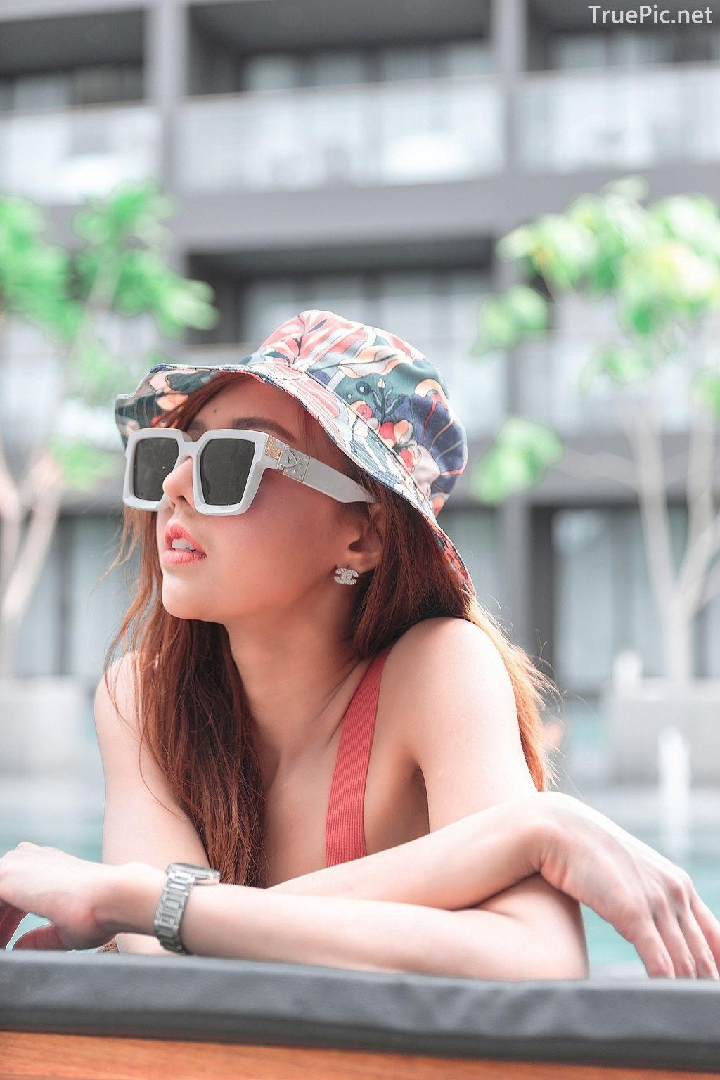 Thailand model - I'nam Arissara Chaidech - Pink Bikini on the beach - TruePic.net - Picture 7
