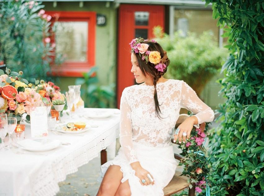 future mariee table fleurie