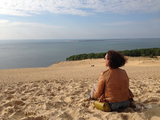 Duna de Pilat mirando al mar