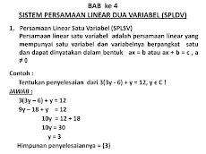Teori Sistem Persamaan Linear 2 Variabel