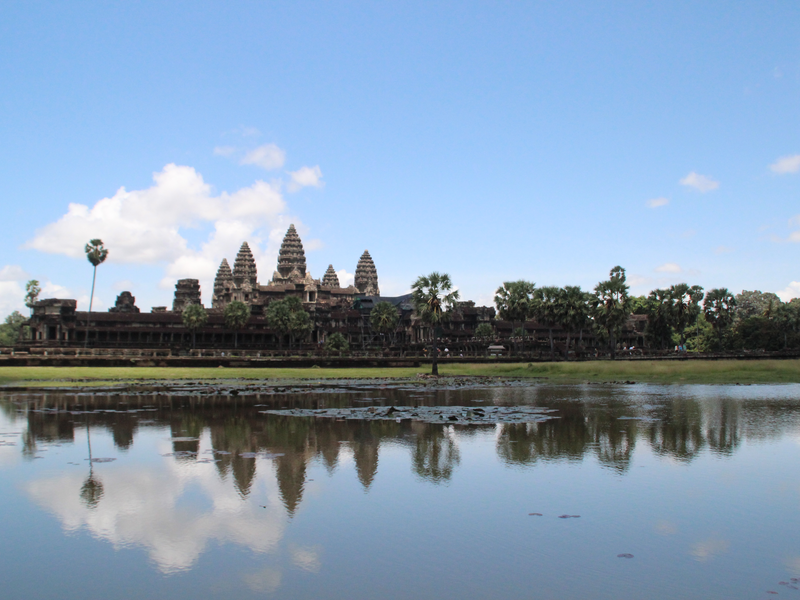 Angkor Wat Reflejo Lago