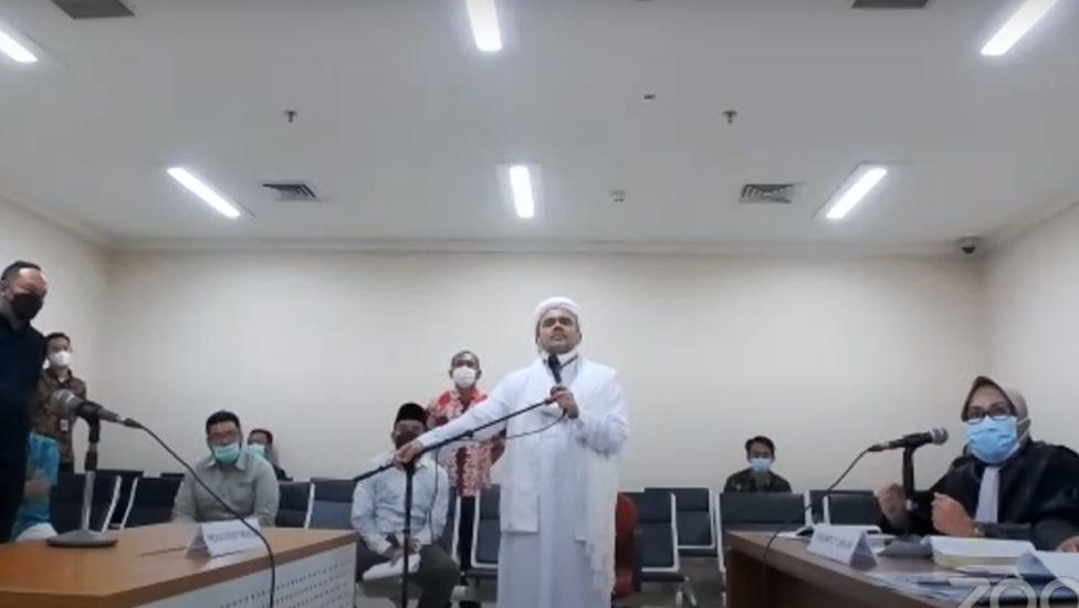 Bantah Dakwaan Jaksa, Habib Rizieq: Kami Tidak Pernah Menghasut Umat, Mereka yang Sengaja Ingin Kriminalisasi Acara Maulid Nabi!