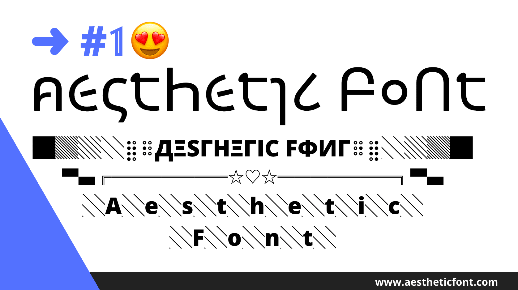 aesthetic Text Font