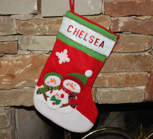 iron-on letters christmas stocking