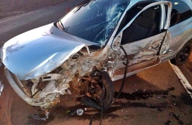 Manoel Ribas: Três pessoas ficam feridas em acidente na PR-466