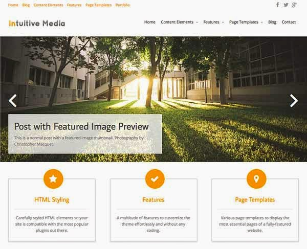Intuition - Blogging WordPress Theme