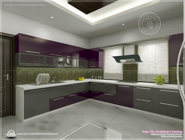 Kitchen Interior Views Ss Architects Cochin - Kerala
