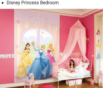 desain kamar tidur disney