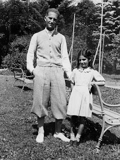 Liliana Segre with her father, Alberto Segre