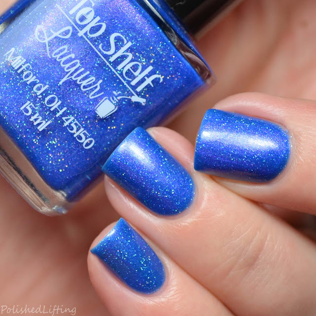 deep blue nail polish