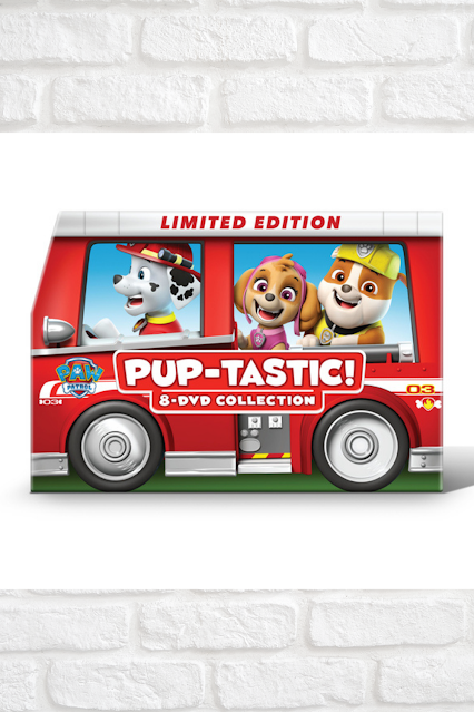 Paw Patrol Puptastic 8 DVD Kids Movie Fire Truck Collection