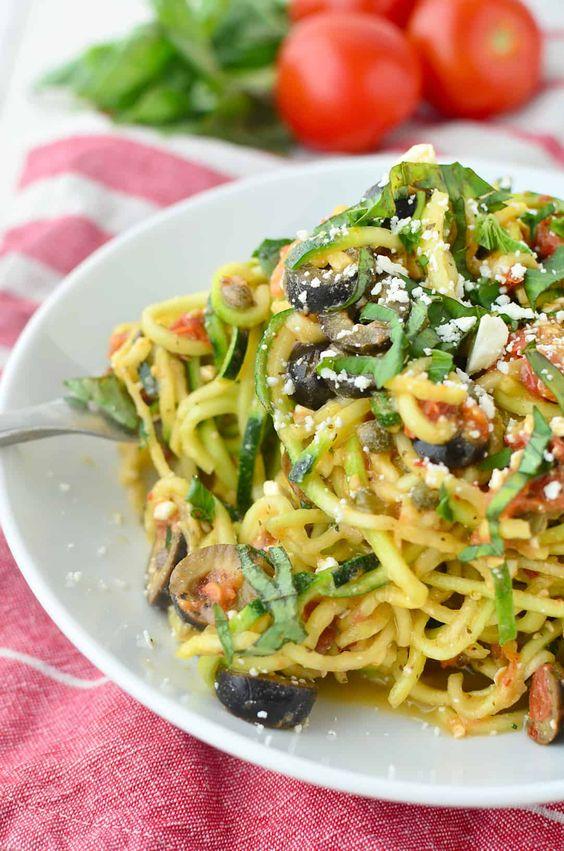 mediterranean zucchini noodles #Mediterranean #Zucchini #Noodles #Dinner #Easydinner #Healthydinner #Delecious