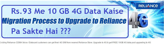Reliance CDMA : Rs.93 Mein 10 GB 4G Internet Data Kaise Pa Sakte Hai - How To Get 10 GB 4G Data In Rs.93