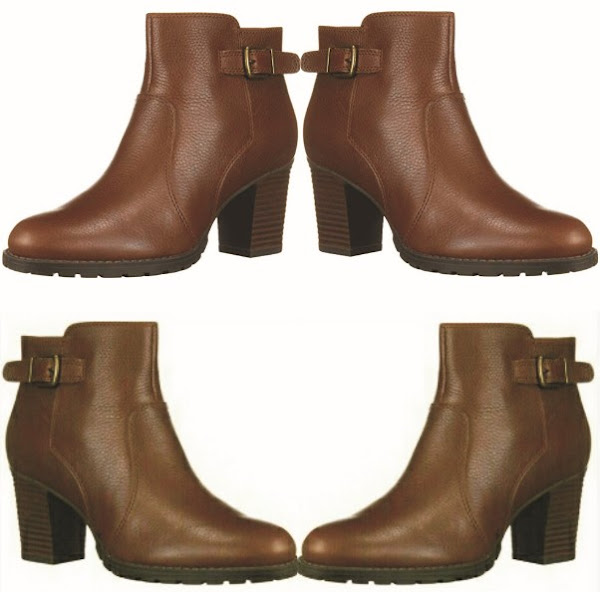 Clarks Ankle Boot Shoes: Women's Verona Gleam Heeled Leather Booties