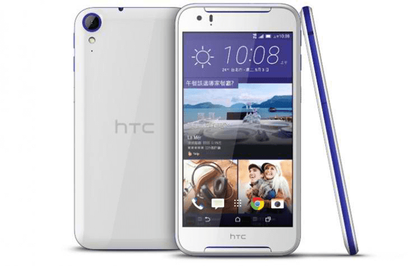 HTC Desire 830 in white and blue