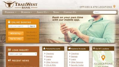 TrailWest Bank Online banking