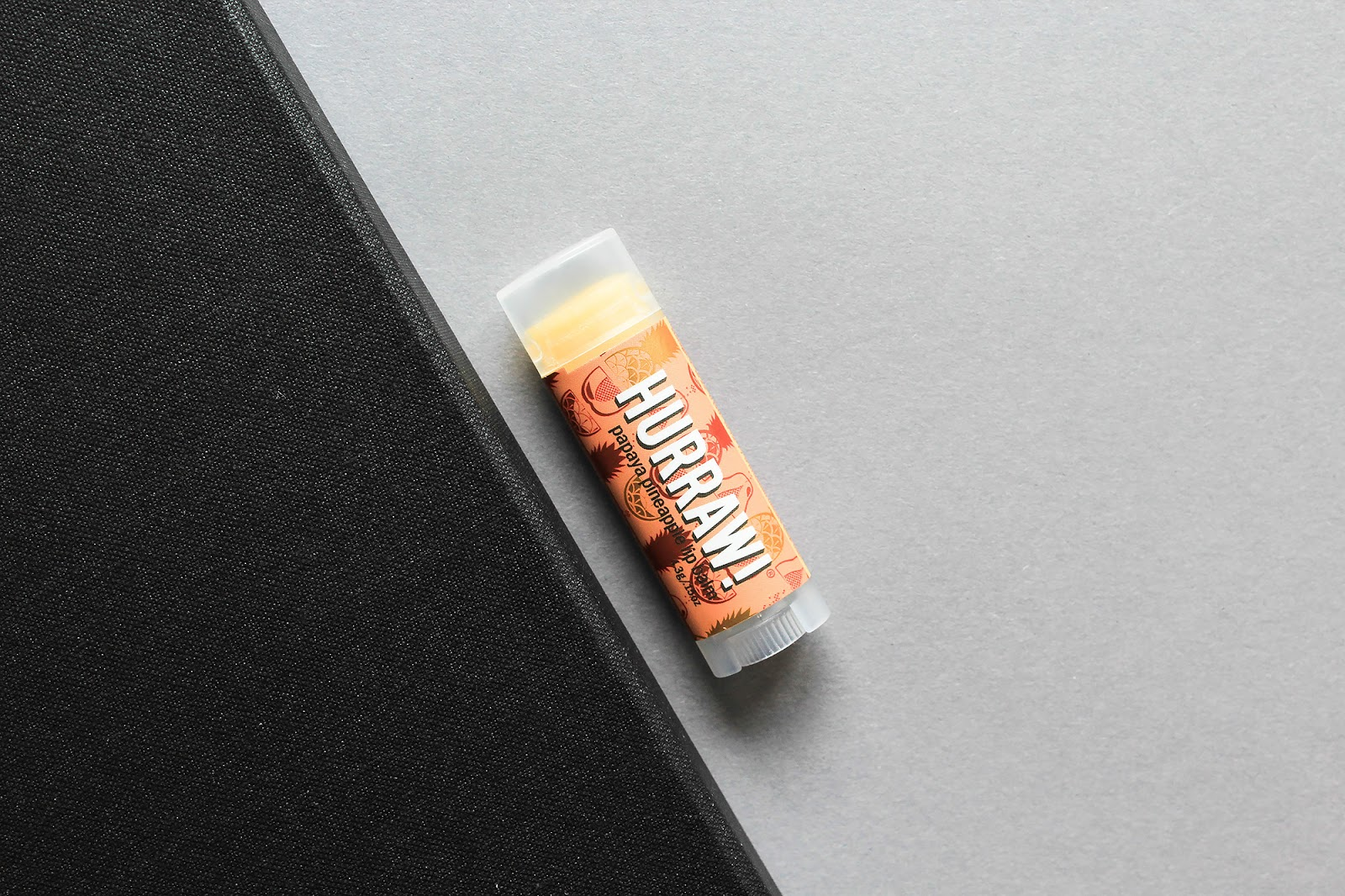 Hurraw Papaya Pineapple Lip Balm. Raw, Organic, Vegan.