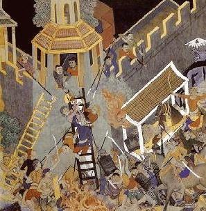 Sebuah lukisan dari Siam menunjukkan penyerangan Chola di Kedah.