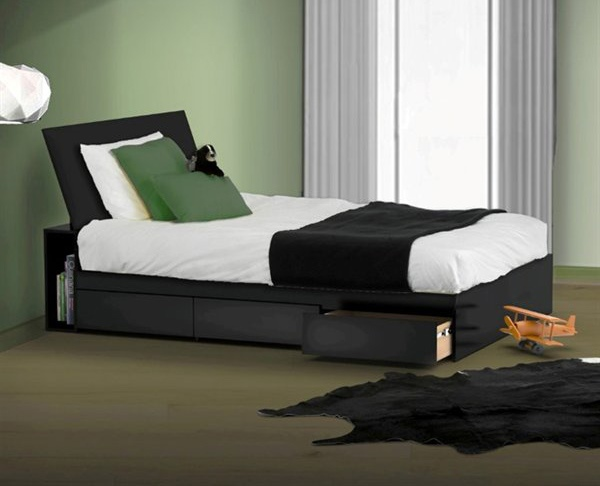 Desain Tempat Tidur dengan Laci Unik dan Fungsional