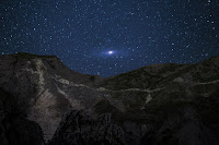 Andromeda Galaxy over the Alps