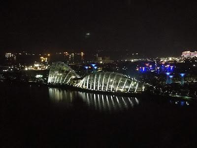 dengan harga SD33, kami pun menikmatilah keindahan malam Singapura dari atas Singapore Flyer