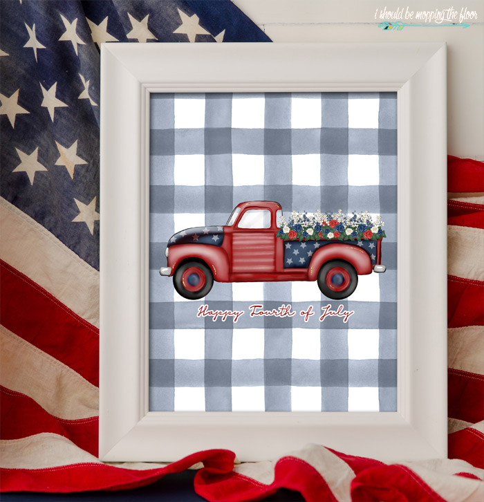 Fourth of July Truck Printable
