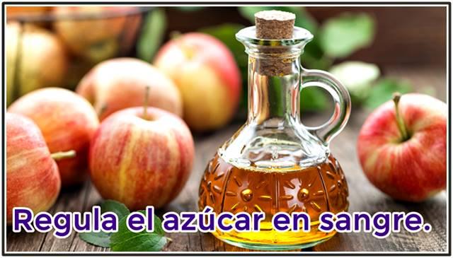 El vinagre de manzana ayuda a regular el nivel de glucosa e insulina