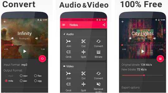 Timbre: Cut, Join, Convert Mp3 Audio & Mp4 Video add music file to video app