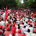 All India employees, labourers and farmers stage Dharna on parliament street