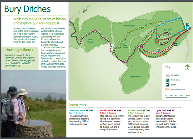 Bury Ditches Map