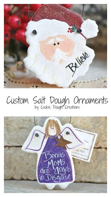 Custom salt dough ornaments.