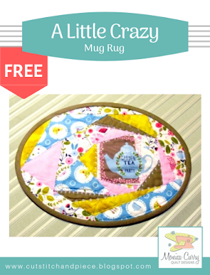 FREE - A Little Crazy Mug Rug Pattern
