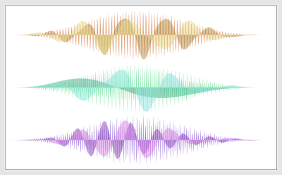 Multiple wave image that was made with Processing.