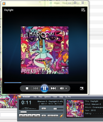 Tampilan Album Art pada Windows Media Player dan Winamp