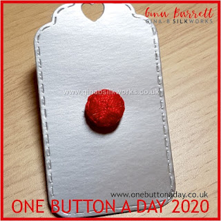 One Button a Day 2020 by Gina Barrett - Day 160 : Push