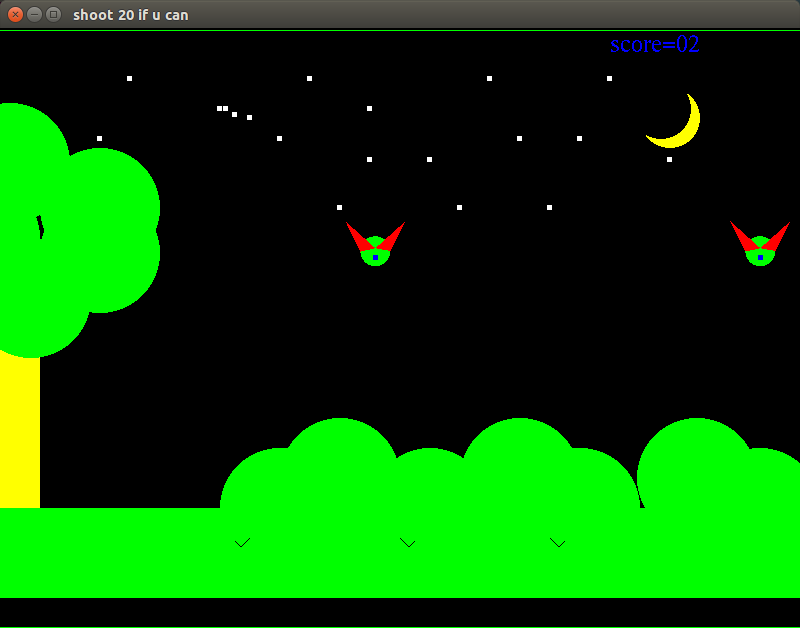 GAME: source code for bird shooting game in opengl | Programming and