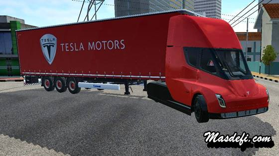 mod truck tesla semi trailer