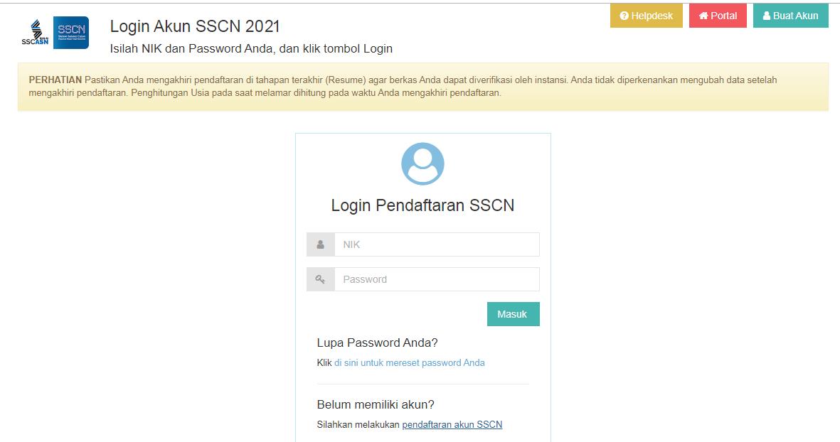 Cara Daftar CPNS Online 2021