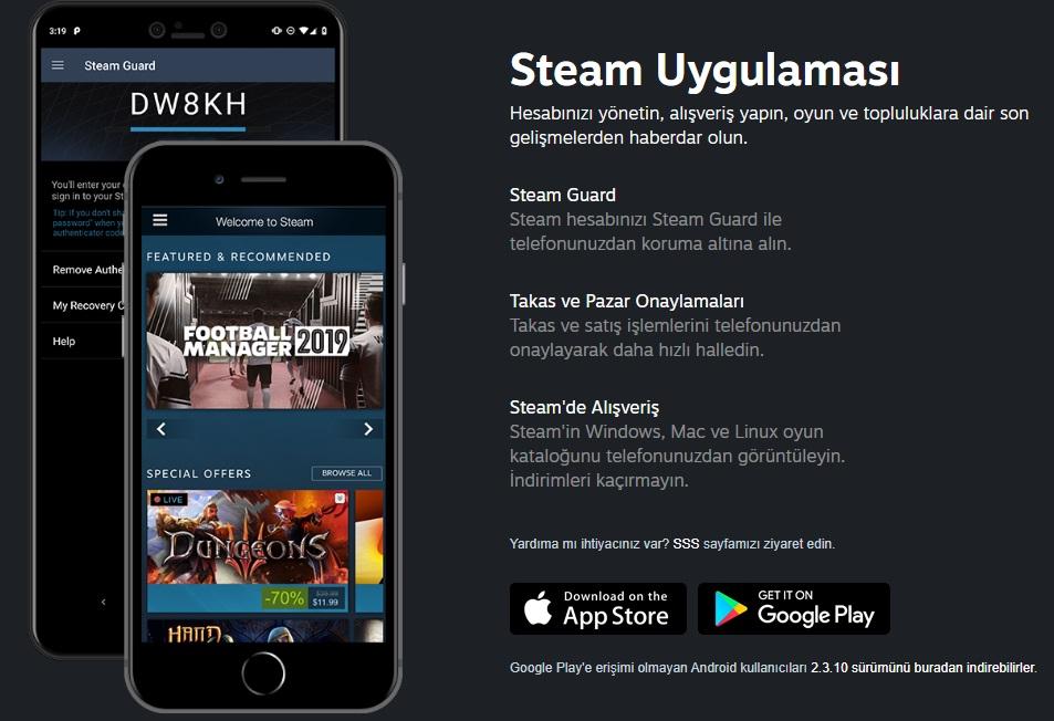 Steam Mobil Uygulaması