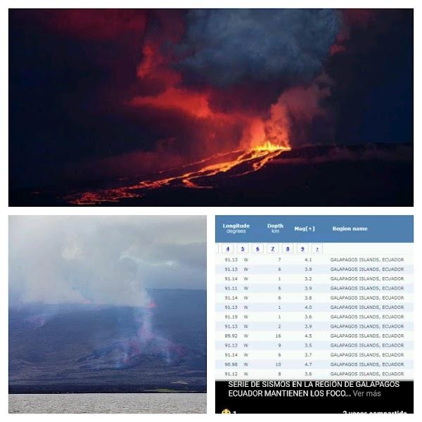 ALERTA ISLA GALÁPAGOS: 2 Erupciónes Volcánicas Y Un Enjambre Sismico Inminente.
