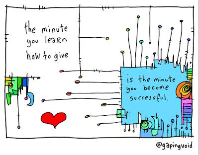 Как только вы научитесь отдавать, вы сразу станете успешными.