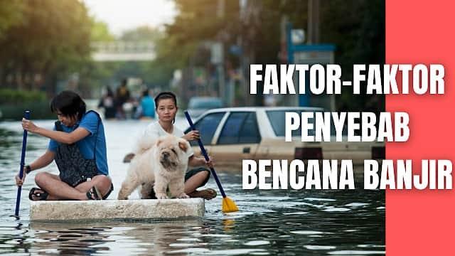 """Faktor-Faktor Penyebab Bencana Banjir Berikut ini adalah faktor-faktor penyebab dari bencana banjir :  Curah hujan tinggi, baik di suatu kawasan maupun di hulu sungai Luapan air sungai akibat tingginya curah hujan di hulu sungai Runtuhnya bendungan Naiknya air laut (pasang/rob) Tsunami   Selain itu, faktor kerentanan di suatu daerah juga akan mempengaruhi terjadinya banjir. Faktor kerentanan tersebut adalah sebagai berikut (Rahayu et al., 2014):  Prediksi yang kurang akurat mengenai volume banjir Rendahnya kemampuan sistem pembuangan air Turunnya kapasitas sistem pembuangan air akibat rendahnya kemampuan pemeliharaan dan operasional Deforestasi Turunnya permukaan tanah akibat turunnya muka air tanah Perubahan iklim yang diakibatkan oleh pemanasan global   Nah itu dia bahasan dari faktor-faktor penyebab bencana banjir, melalui bahasan di atas bisa diketahui mengenai faktor-faktor penyebab bencana banjir pada manusia. Mungkin hanya itu yang bisa disampaikan di dalam artikel ini, mohon maaf bila terjadi kesalahan di dalam penulisan, dan terimakasih telah membaca artikel ini.""""God Bless and Protect Us"""""""