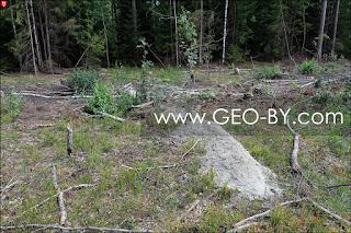 Выброшенный цемент после строительства водопровода Артюки-Отцеда на дороге из Отцеда в Артюки