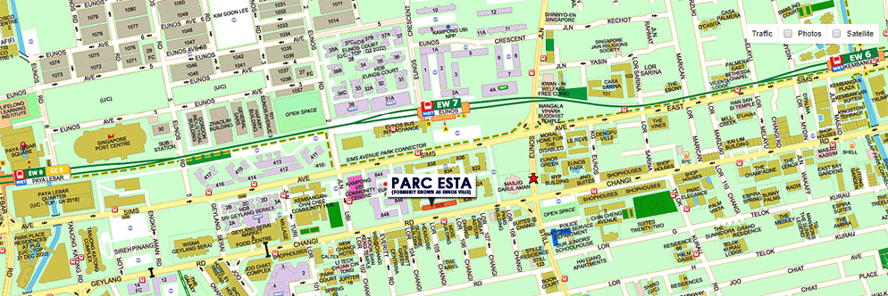 Parc Esta Location Map