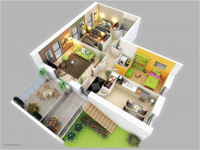 house plans 3 rooms limited land